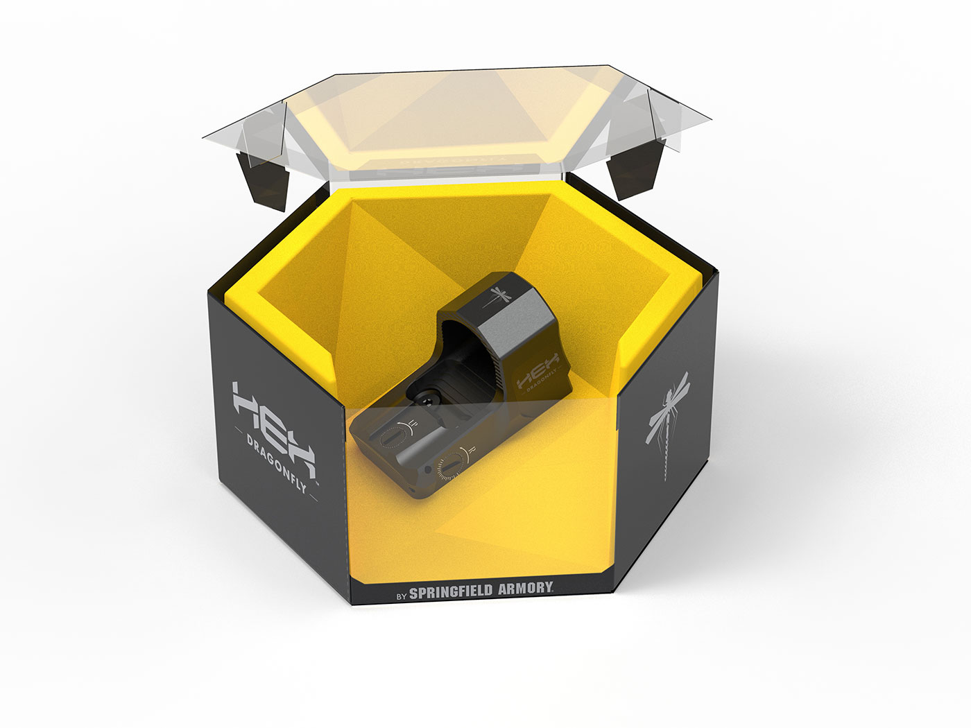 HEX Dragonfly in packaging with top of box open